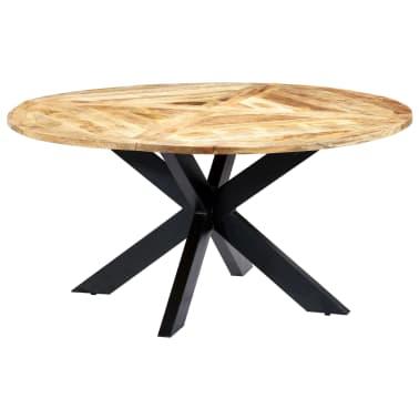 vidaXL Eettafel rond 150x76 cm massief mangohout[15/15]