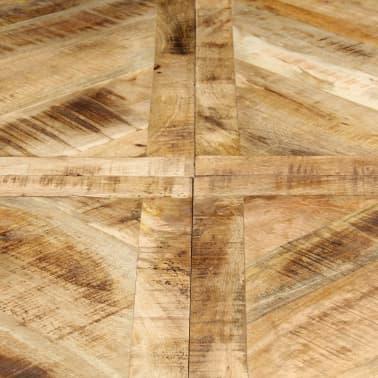vidaXL Eettafel rond 150x76 cm massief mangohout[5/15]