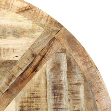 vidaXL Eettafel rond 150x76 cm massief mangohout[6/15]
