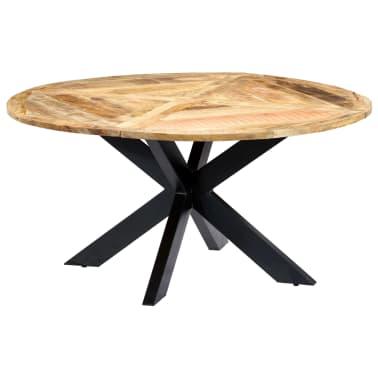 vidaXL Eettafel rond 150x76 cm massief mangohout[10/15]