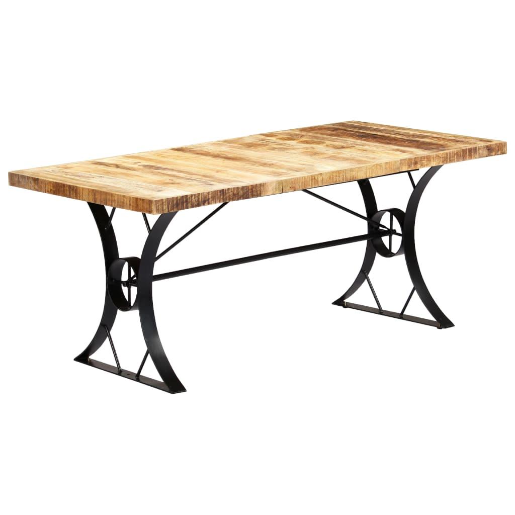 vidaXL Masă de bucătărie, 180 x 90 x 76 cm, lemn masiv de mango vidaxl.ro