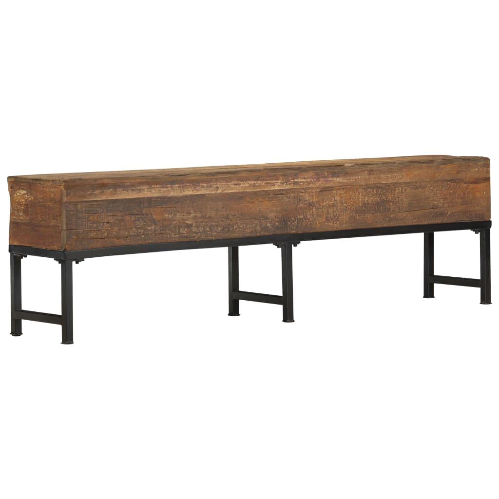vidaXL Bancă, 160 cm, lemn masiv reciclat imagine vidaxl.ro