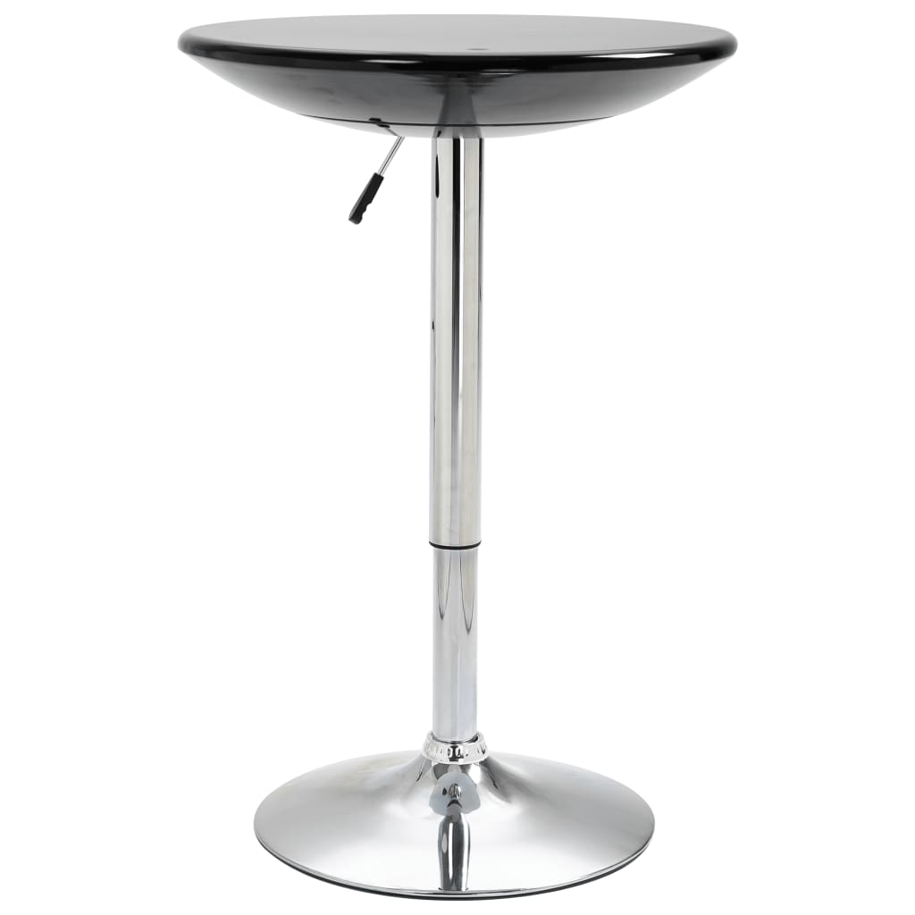 Barový stůl černý Ø 60 cm ABS