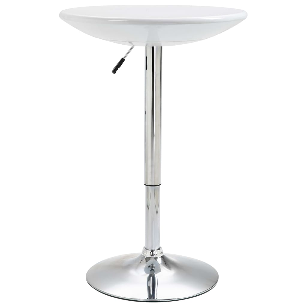 Barový stůl bílý Ø 60 cm ABS