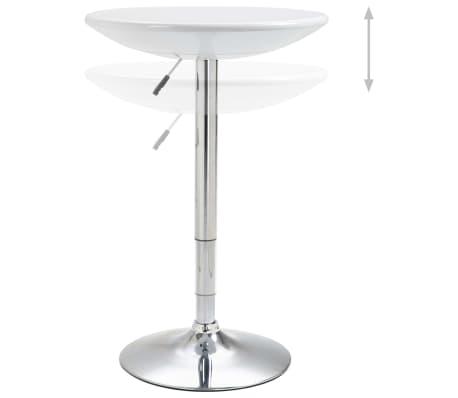 vidaXL Baro stalas, baltos spalvos, ABS plastikas, 60 cm skersmens[2/5]