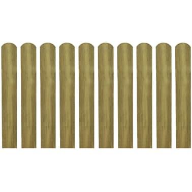 vidaXL 20 pcs Lattes imprégnées de clôture Bois 60 cm[2/2]