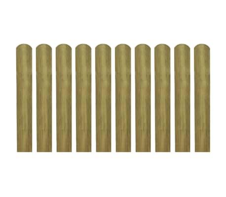 vidaXL 30 pcs Lattes imprégnées de clôture Bois 60 cm