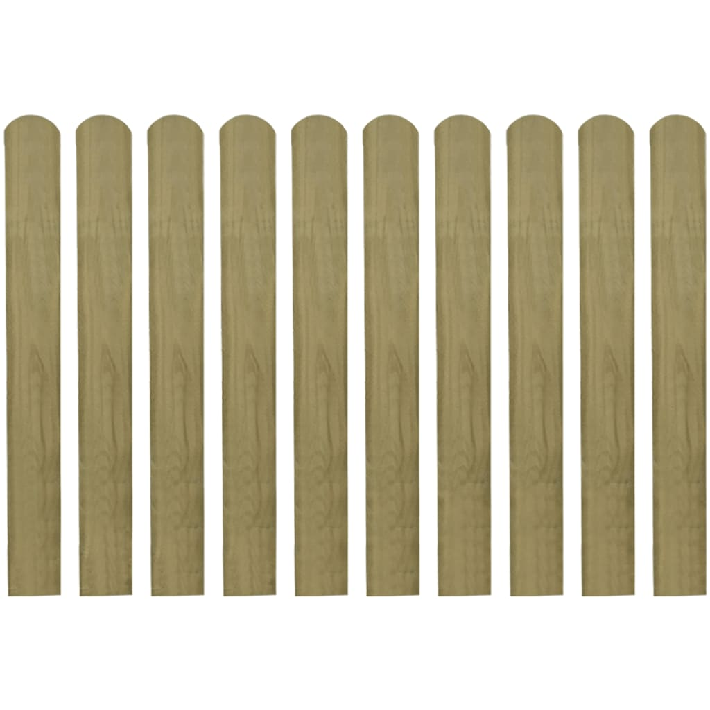 vidaXL Șipci de gard din lemn tratat, 20 buc., 80 cm poza vidaxl.ro