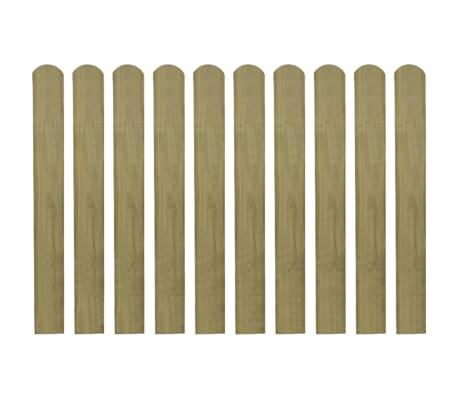 vidaXL Lattes imprégnées de clôture 20 pcs Bois 80 cm