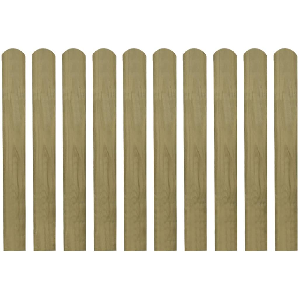 vidaXL Șipci de gard din lemn tratat, 30 buc., 80 cm poza vidaxl.ro