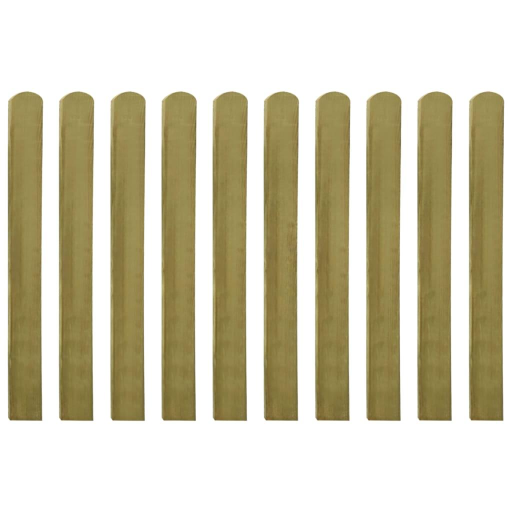 vidaXL Șipci de gard din lemn tratat, 20 buc., 100 cm poza vidaxl.ro