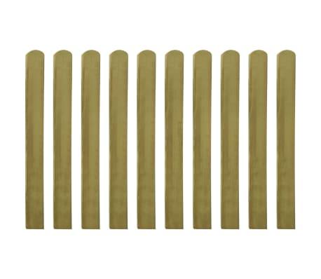 vidaXL 20 pcs Lattes imprégnées de clôture Bois FSC 100 cm[1/2]