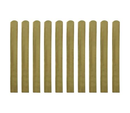 vidaXL 20 pcs Lattes imprégnées de clôture Bois FSC 100 cm[2/2]
