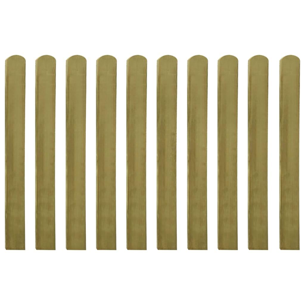 vidaXL Șipci de gard din lemn tratat, 30 buc., 100 cm poza vidaxl.ro