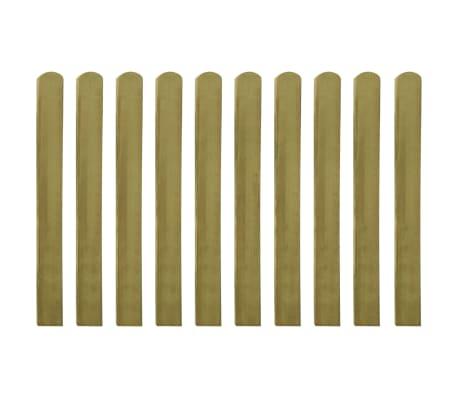 vidaXL Impregnerad staketribba 30 st trä 100 cm