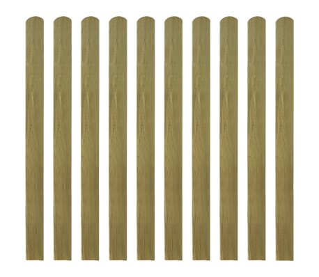 vidaXL 20 pcs Impregnated Fence Slats Wood 120 cm
