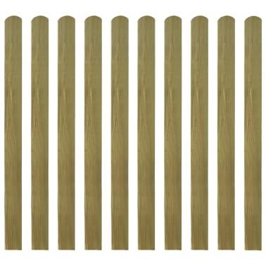 vidaXL Impregnuoti tvoros skersiniai, 20vnt, 120cm, mediena (2x42012)[1/2]