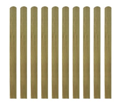 vidaXL Impregnerad staketribba 30 st trä 120 cm