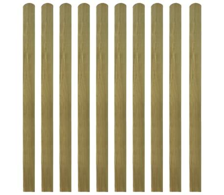 vidaXL 20 pcs Impregnated Fence Slats Wood 140 cm
