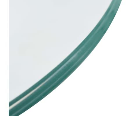 vidaXL Coffee Table with Round Glass Top High Gloss Gray[5/6]
