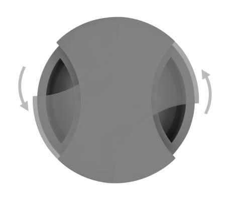 vidaXL Kavos staliukas, pilkas, reguliuojamos formos, labai blizgus[4/7]