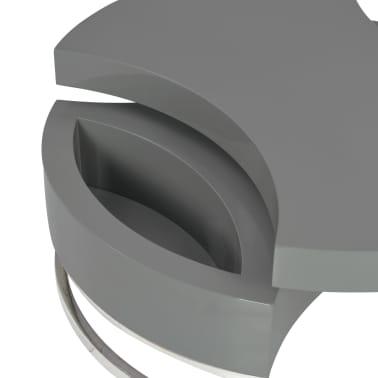 vidaXL Kavos staliukas, pilkas, reguliuojamos formos, labai blizgus[5/7]