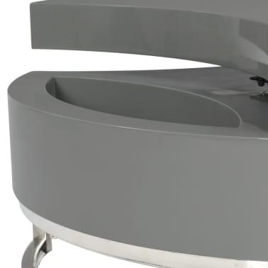 vidaXL Kavos staliukas, pilkas, reguliuojamos formos, labai blizgus[6/7]