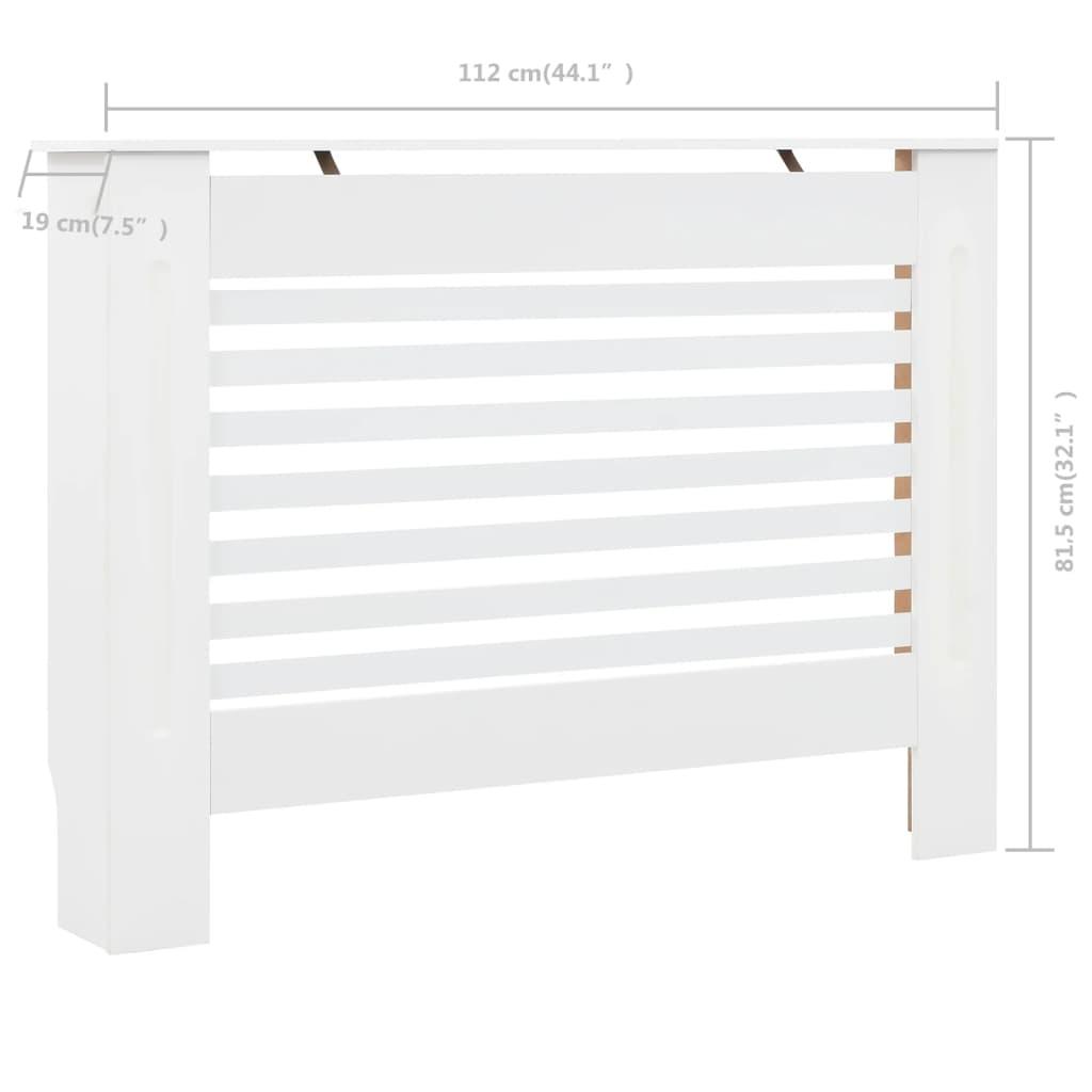 vidaXL Radiatorombouw 112x19x81,5 cm MDF wit