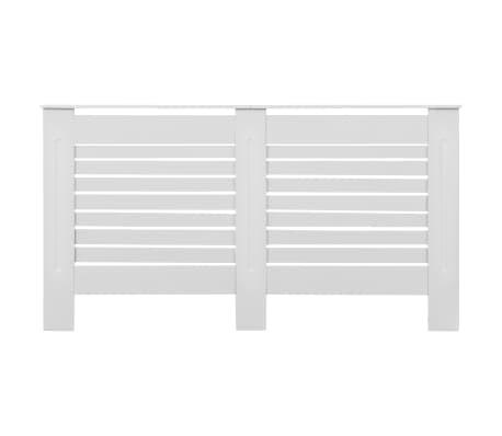 vidaXL Cache-radiateur Blanc 152x19x81,5 cm MDF[3/7]