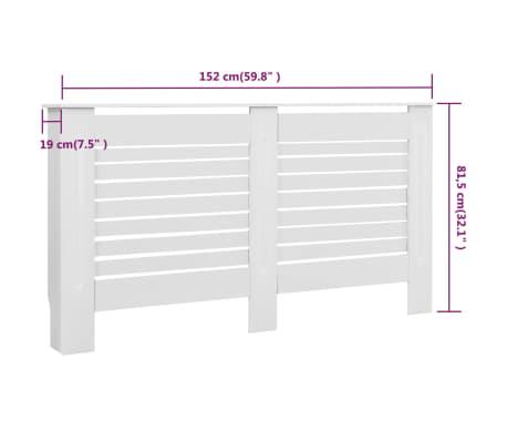 vidaXL Cache-radiateur Blanc 152x19x81,5 cm MDF[7/7]