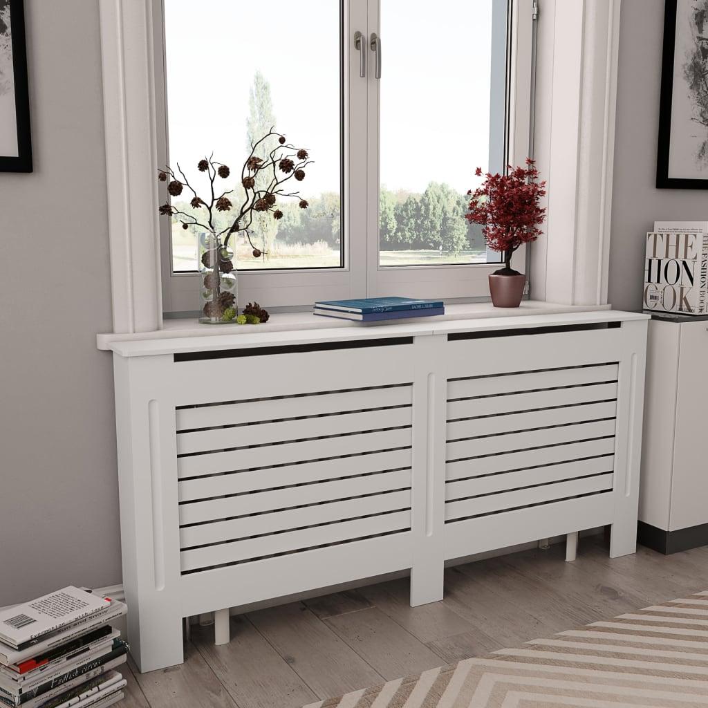Kryt na radiátor bílý 172 x 19 x 81,5 cm MDF