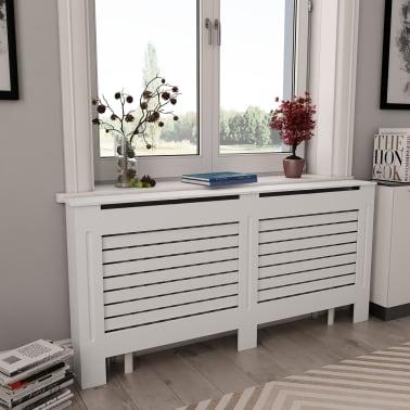 vidaXL Cache-radiateur Blanc 172x19x81,5 MDF[1/7]