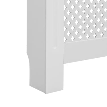 vidaXL Cache-radiateur Blanc 172x19x81,5 MDF[6/7]