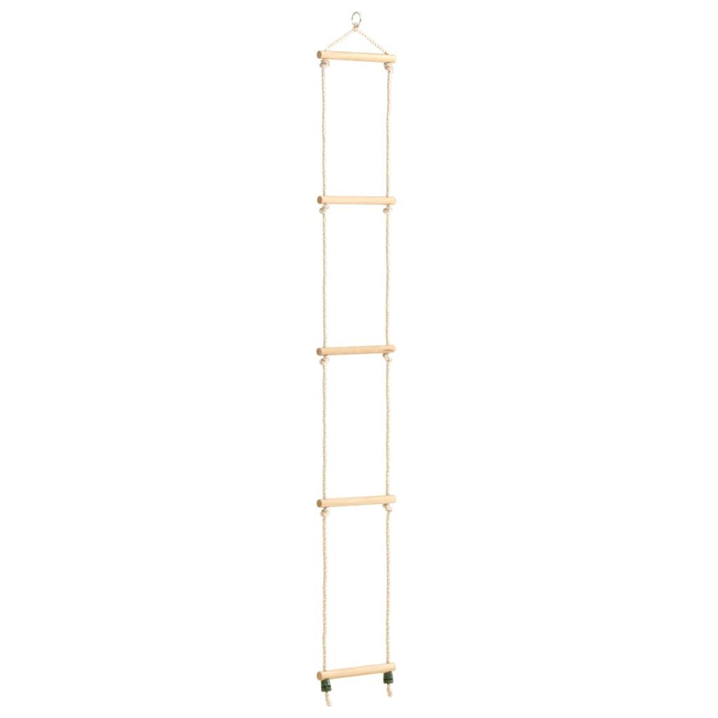 Dětský provazový žebřík masivní dřevo a PE 30 x 168 cm