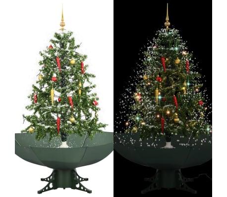 vidaXL zöld havazó karácsonyfa ernyő alakú talppal 140 cm