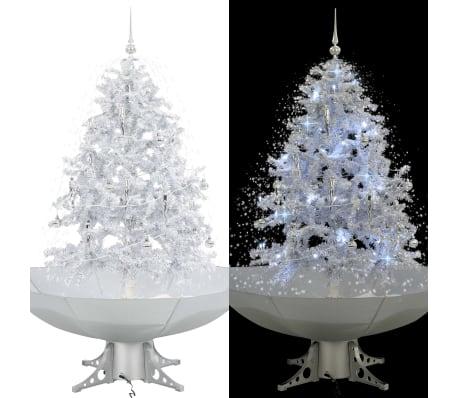 vidaXL Božićno drvce koje sniježi sa stalkom bijelo 140 cm