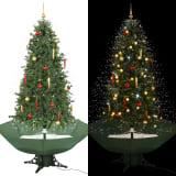 vidaXL Kerstboom sneeuwend met paraplubasis 190 cm groen