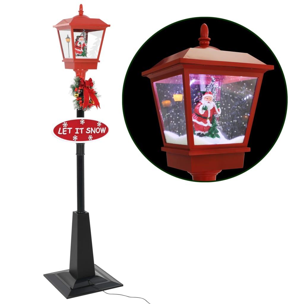 vidaXL Felinar stradal cu moș Crăciun, LED, 180 cm vidaxl.ro