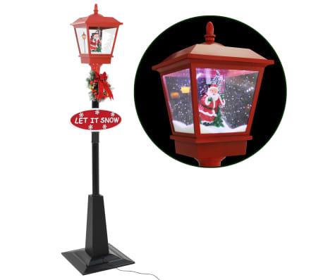 vidaXL Straatlantaarn met kerstman LED 180 cm