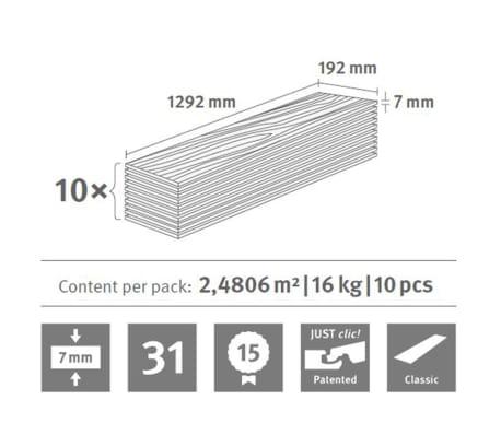Egger Laminat Dielen 42,16 m² 7 mm Ampara Eiche Grau[7/7]