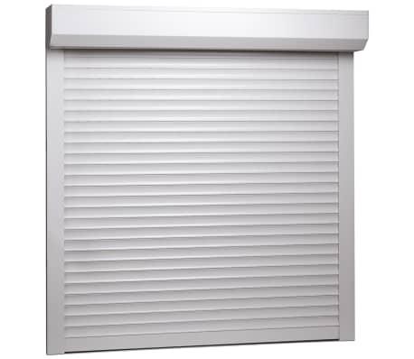 vidaXL rulleskodder aluminium 100 x 100 cm hvid