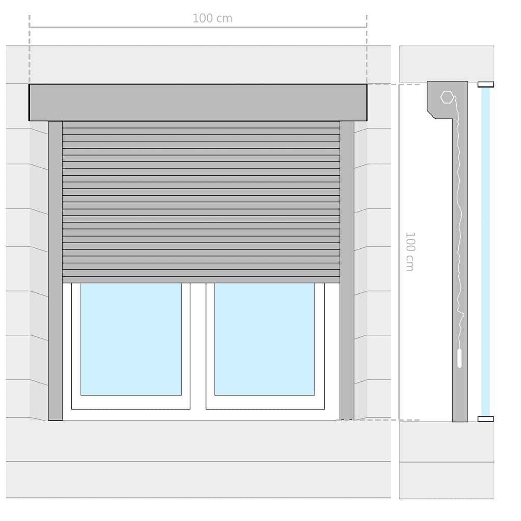 Détails Sur Vidaxl Volet Roulant 100x100 Cm Enrouleur Pare Vue Occultant Store Fenêtre