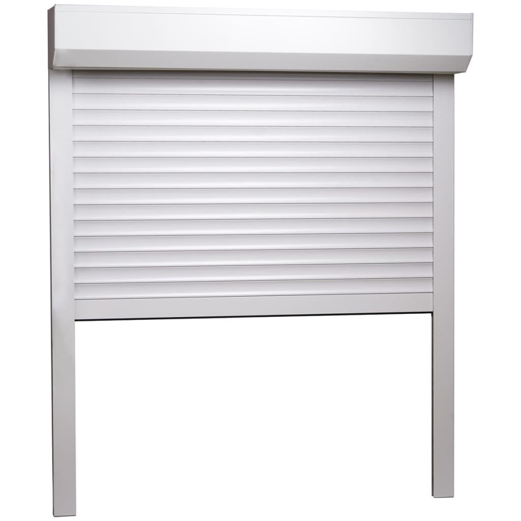 vidaXL Rolluik 100x120 cm aluminium wit