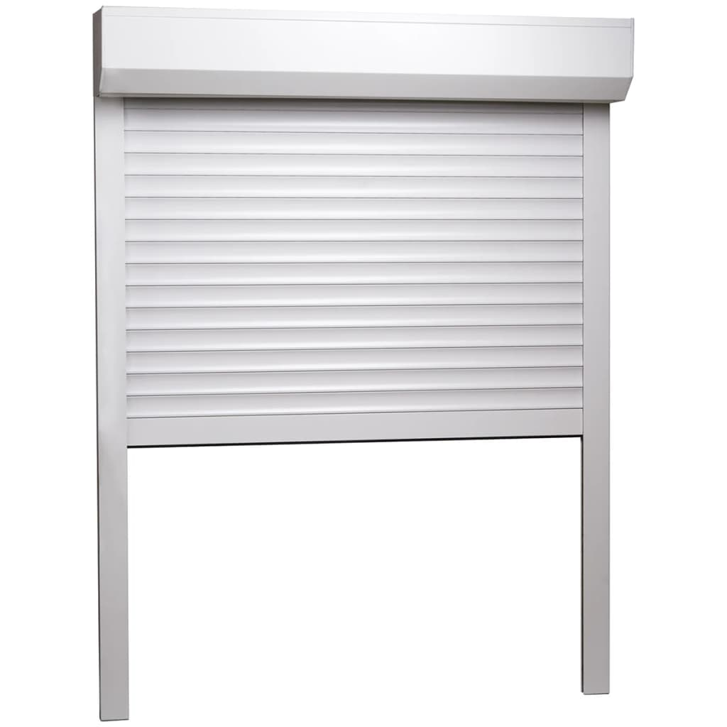 vidaXL Rolluik 100x130 cm aluminium wit