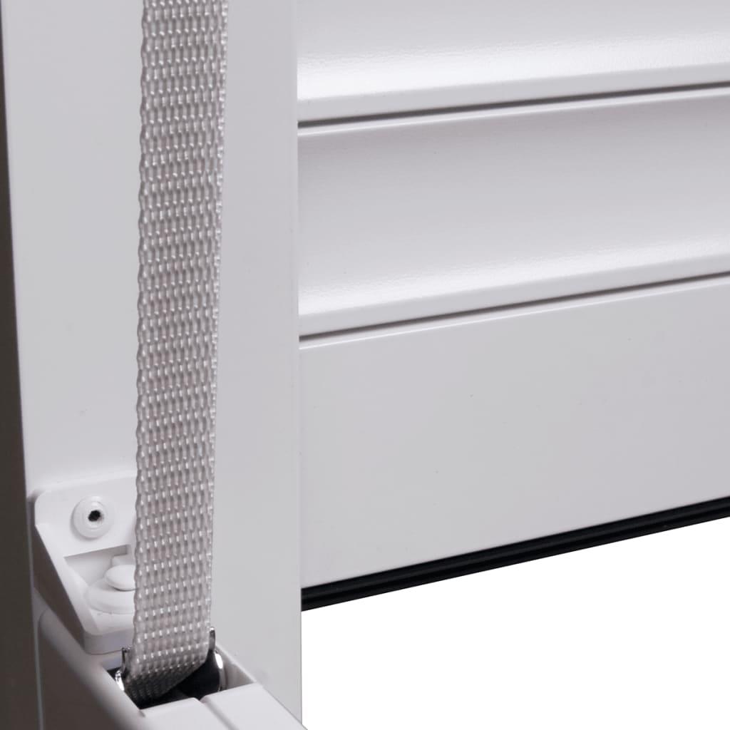 vidaXL Rolluik 100x210 cm aluminium wit