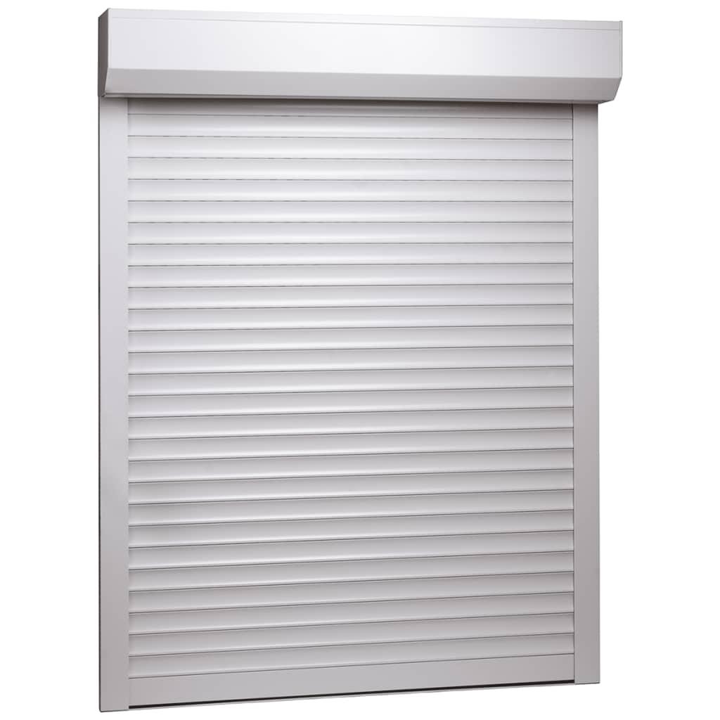 vidaXL Oblon rulant, alb, 110 x 130 cm, aluminiu vidaxl.ro