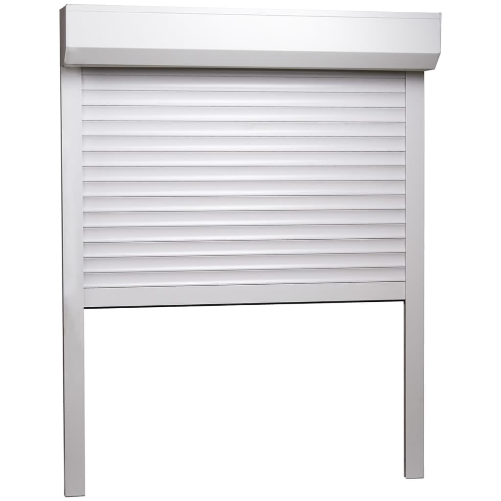 vidaXL Rolluik 110x130 cm aluminium wit