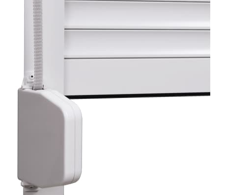 vidaXL Volet roulant Aluminium 110 x 130 cm Blanc[4/7]