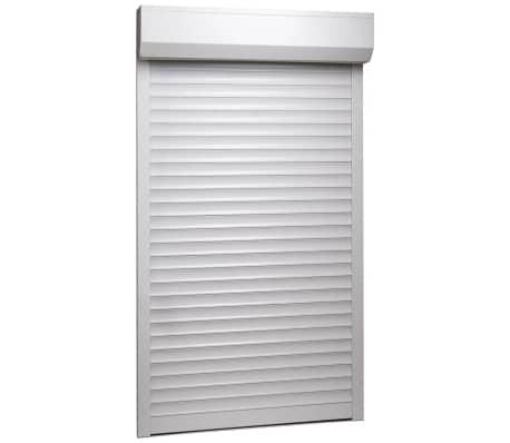 vidaXL Persiana enrollable aluminio blanca 110x220 cm
