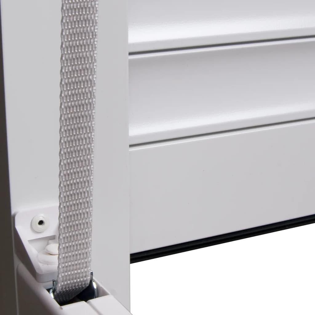 vidaXL Rolluik 110x220 cm aluminium wit